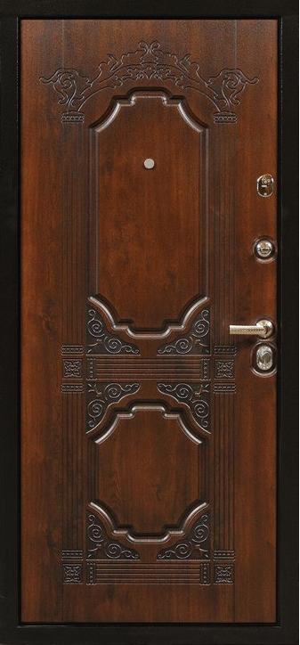 стальные двери с красивой фрезеровкой
