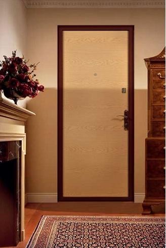 стальная дверь обитая ламинатом