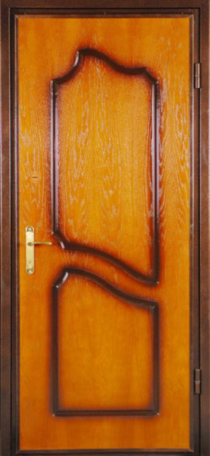 купить дверь металлическую шпонированную дубом
