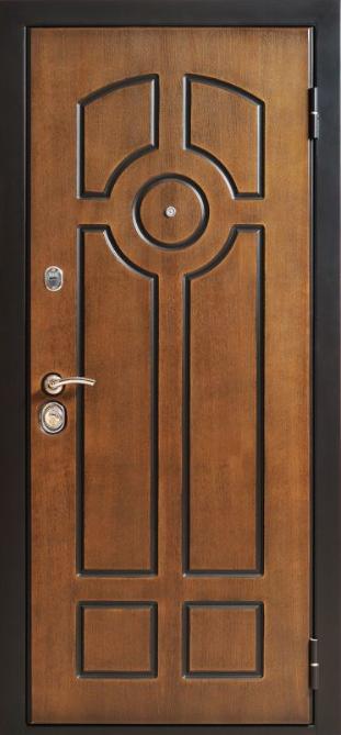 металлическая входная дверь шпон