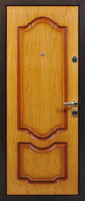 производство металлических дверей шпон