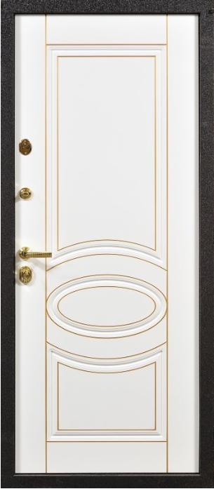 белые мдф металлические входные двери