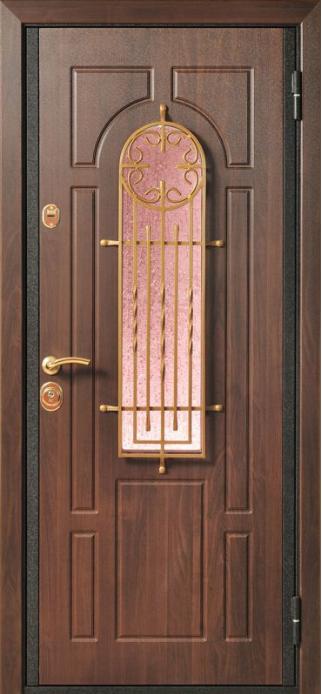 стальные с окном и ковкой тамбурные двери