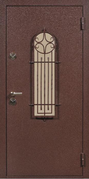 железные двери с стеклопакетами
